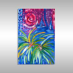 palm tree painting for sale in miami at laelanie art gallery Tree Paintings, Cool Paintings, Abstract Paintings, Paintings For Sale, Miami Florida, Miami Beach, Art In Miami, Abstract Art For Sale, Blue Art