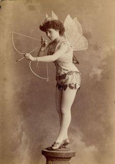 Faeries - Vintage fairy lady - Cupid