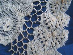 Vintage Lace Antique Renaissance Trim Remnants Handmade Dolls Crafts Projects