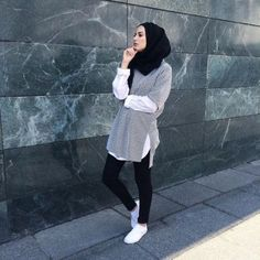 shirt with blouse hijab look- Hijab fashion inspiration http://www.justtrendygirls.com/hijab-fashion-inspiration/