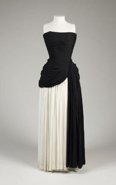 Madame (Alix) Grès (designer), French, (1903–1993) Evening dress, 1950 Silk jersey