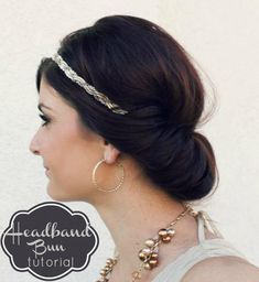 DIY Headband Bun Hair- just in case I need a backup plan