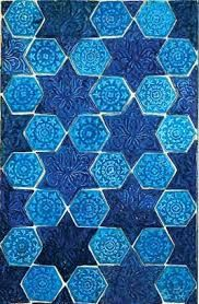popular tessellation patterns using eightpointed stars, many of which include a calligraphic border of Persian poetry
