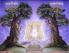 "Revelation 11:4-5.         ""These are the two olive trees and the two lampstands that stand before the Lord of the earth. And if anyone would harm them, fire pours from their mouth and consumes their foes. If anyone would harm them, this is how he is doomed to be killed."""