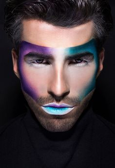 58 Ideas For High Fashion Photography Male Men Drag Makeup, Male Makeup, Fx Makeup, Photo Makeup, Makeup Lipstick, Make Up Looks, Beauty Makeup Photography, Fashion Photography, High Fashion Makeup