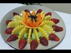 How to make a fruit center, Lesson 01 fruit centers - J.Pereira Art Carving Fruit - YouTube
