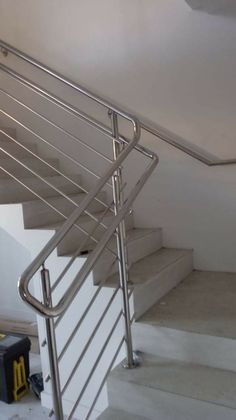 Steel Railing Design, Staircase Railing Design, Stainless Steel Stair Railing, Glass Stairs, Steel Stairs, Contemporary, Modern, Sunrise, Architecture