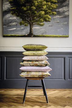 Silk and linen cushions #elitis, #cushion, #linen, #silk, #spring