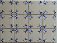 Decorative Fleur De Lis Tiles Delft Style Design by DesignerTile