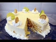 Carlota de Limón (Receta Casera Sin Horno) - YouTube Food Cakes, Lemon Recipes, Cake Recipes, Apple Cranberry Salad, Chess Cake, Flan, Dessert Table, Oreo, Bakery