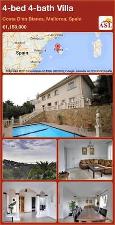 Villa for Sale in Costa D'en Blanes, Mallorca, Spain with 4 bedrooms, 4 bathrooms - A Spanish Life Murcia, Valencia, Costa, Barcelona, Spanish, Villa, Bath, Bedroom, Places