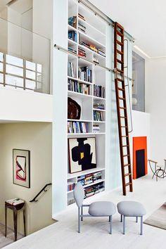 Super mooie woonkamer in een loft
