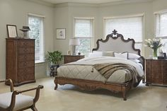 Peaceful dreams beckon in this bedroom inspired by Biltmore's legacy of home decor and style.