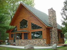 Log Cabin Siding direct from the manufacturer in Flomaton, AL - Southern Wood Specialties - P: 251-296-2556 Vinyl Log Siding, Log Cabin Siding, Log Cabin Exterior, House Siding, Wood Siding, Log Cabins, Cedar Siding, House Roof, Farm House