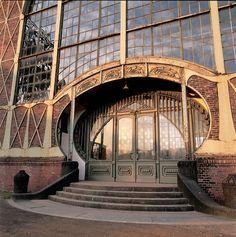 Art nouveau, entrance coal mine in Dortmund, Germany.