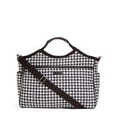 Feel more than welcome to bless me with this! Carryall Travel Bag in Midnight Houndstooth with Black Trim | Vera Bradley
