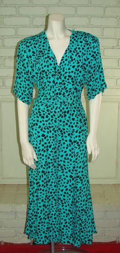 Vintage 80s Nicole Miller Green and Black by thescarletmonkey, $40.00
