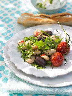 Rezept: Bohnensalat mit Grilltomaten