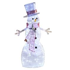 Shop Holiday Living  48-in Lighted Glittered Snowman Outdoor Christmas Decoration at Lowe's Canada. Find our selection of outdoor christmas decorations at the lowest price guaranteed with price match + 10% off.