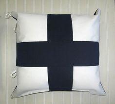 Sunbrella Nautical Flag Pillow Xray Letter X