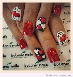 Botanic nails pink, white, leopard print, black glitter, silver glitter