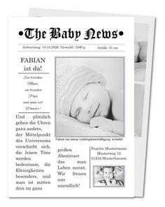 Geburtskarte The Baby News (PRV-124)