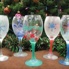 wine glass candle holders christmas - Google zoeken