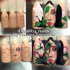 Photo 80s Nails, Nail Drawing, Crazy Nail Art, Painted Nail Art, Disney Nails, Super Nails, Nail Shop, Nail Art Hacks, Nail Tutorials