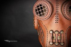 Steampunk Mask Leather Mask Cyberpunk Mask Post