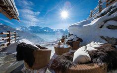 Ideen für die perfekte Winterflucht | Les Trois Couronnes, Schweizer Alpen | www.bocadolobo.com