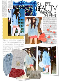 """Sohee fashion airport"" by trine4492 ❤ liked on Polyvore # kpop star fashion # itsmestyle"