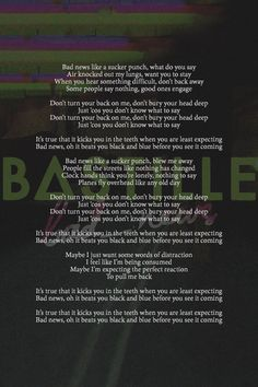 Lyrics to bad_news!! bastille | It's actually *clapped hands if you're lonely, don't leave the same*