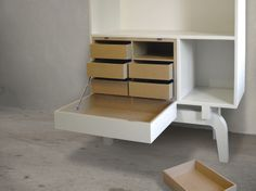 legs collection | TOM FRENCKEN | cabinet made of birch plywood to stuff and display your collectables..