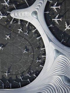 MAD Architects, led by Ma Yansong, releases its design for Terminal 3 of Harbin Taiping International Airport. Harbin, Architecture Magazines, Amazing Architecture, Art And Architecture, Futuristic Architecture, Contemporary Architecture, Taiping, Airport Terminal 3, Mad Design