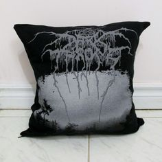 Darkthrone Pillow DIY Black Metal Decor (Cover Only; Insert Available) by DarkStormDesign on Etsy