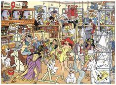 Poster met alle creaties van Henk Kuijpers