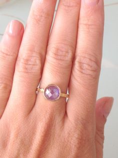 SALE Amethyst ringGemstone Ring  Gold Ring  by KarelliJewelry, ₪129.00