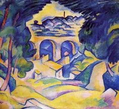 "Georges Braque  ""The Viaduct at L'Estaque"" 1907 (Minneapolis Institute of Art)"