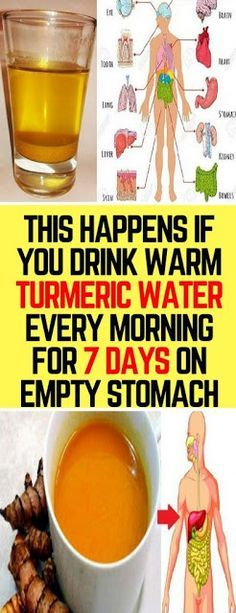 Do You Know What Happens If You Drink Warm Turmeric Water Every Morning For 7 Days On Empty Stomach! – The Best and Latest Tips of beauty and Health Healthy Drinks, Healthy Tips, Healthy Nutrition, Detox Drinks, Nutrition Tips, Nutrition Chart, Healthy Herbs, Healthy Detox, Healthy Women