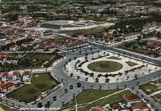 PORTO anos 1960 - Praça de Velasquez & Estádio das Antas - Postal antigo - PORTUGAL OPORTO