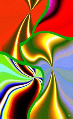 A colorful abstract fusion design to capture the eye, lift the spirits and brighten the room.
