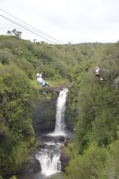Kapohokine Adventures features an 8 zipline tour through Parker Ranch. On this tour you will view twenty five different waterfalls! Located on the Hilo side they also offer transportation from Kona!