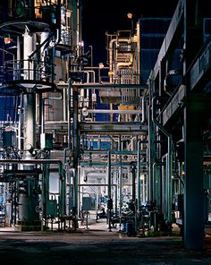 Bid now on Oil Refineries Saint John, New Brunswick by Edward Burtynsky. View a wide Variety of artworks by Edward Burtynsky, now available for sale on artnet Auctions. New Brunswick, Oil Refinery, Industrial Architecture, Industrial Photography, Abandoned Places, Abandoned Homes, Around The Worlds, Factories, Arquitetura