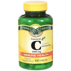 Spring Valley Natural C Vitamin with Rose Hips Dietary Supplement 100 ct