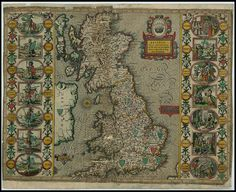 Britain at the time of the Saxon Heptarchy - John Speed proof maps 1605-1610 by peacay, via Flickr