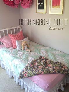 Herringbone Quilt Tutorial