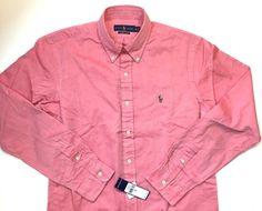 NEW XL Ralph Lauren Classics Chambray Oxford Red Button Down Shirt #RalphLauren…