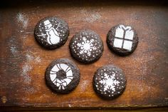 Dark Chocolate Holiday Gingersnaps