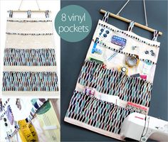 Hanging, 14-Pocket Wall Caddy for Sewing & More   Sew4Home