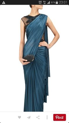 Simple and modern saree
